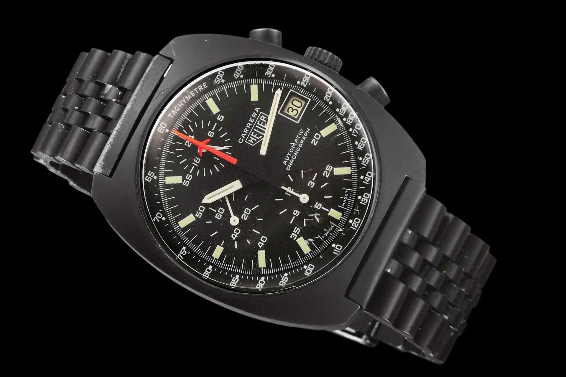 black pvd watch swiss image air watches bracelet automatic uk chronograph defender on