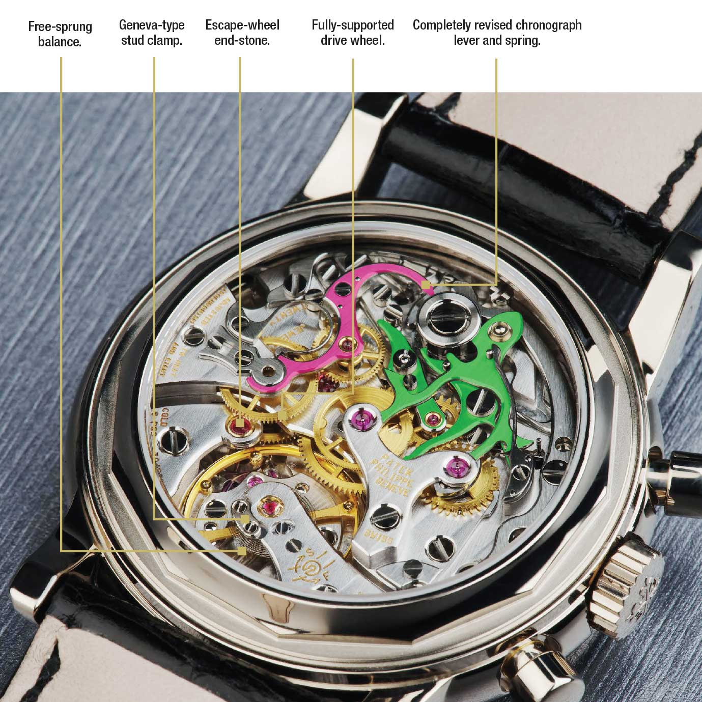 Patek's take on the Lemania CH 27, the CH27-70 Q seen here used in ref. 3970