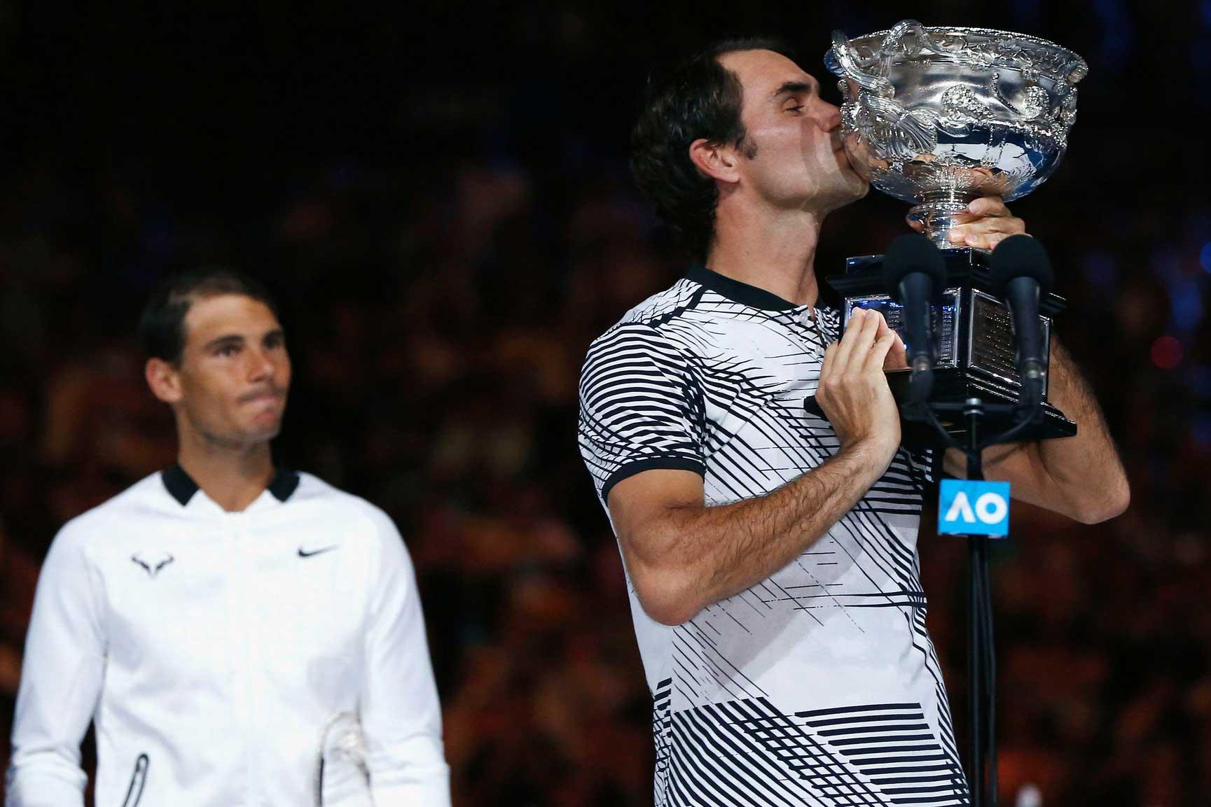 Federer wins 2017 Australian Open