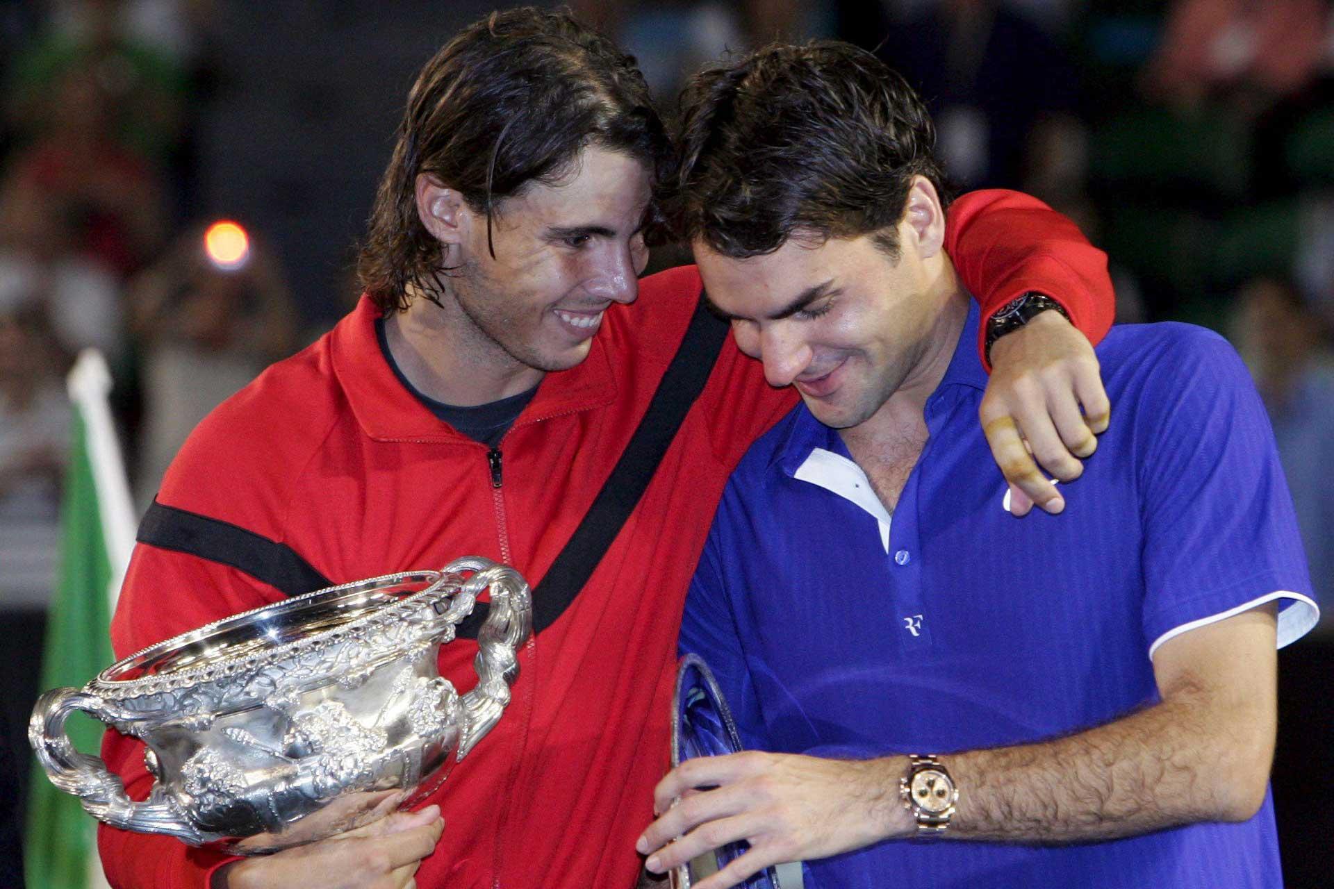 Nadal and Federer in 2009