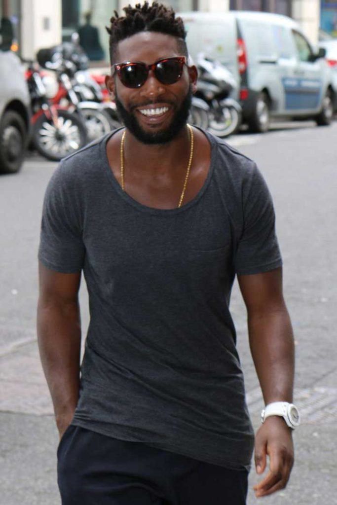 Tempah spotted wearing his ceramic AP Offshore on the streets.