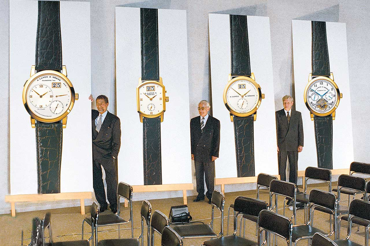 The legendary launch of the quartet of watches on 24 October 1994 in the residential palace in Dresden.