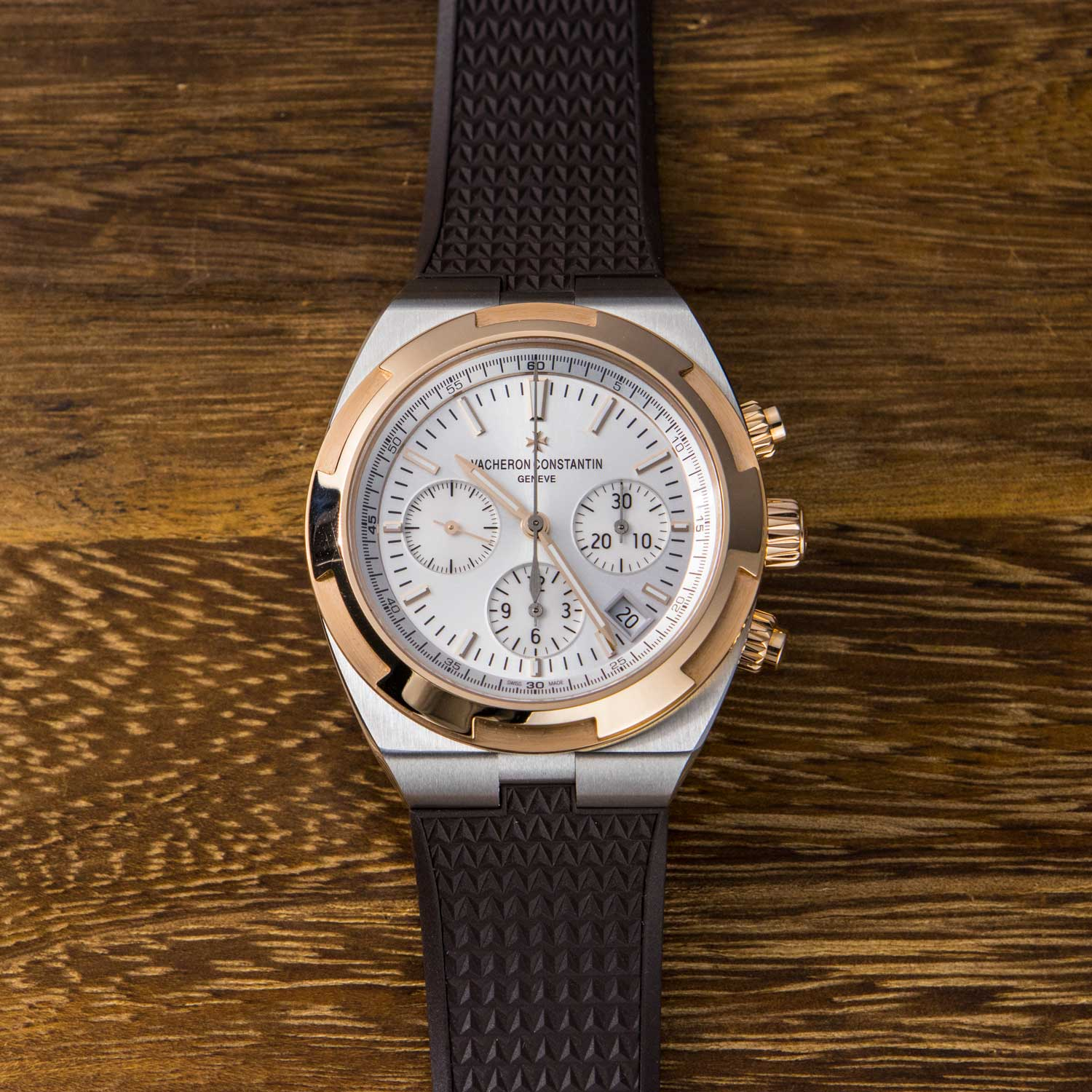 Vacheron Constantin's 2017 two-tone Overseas chronograph