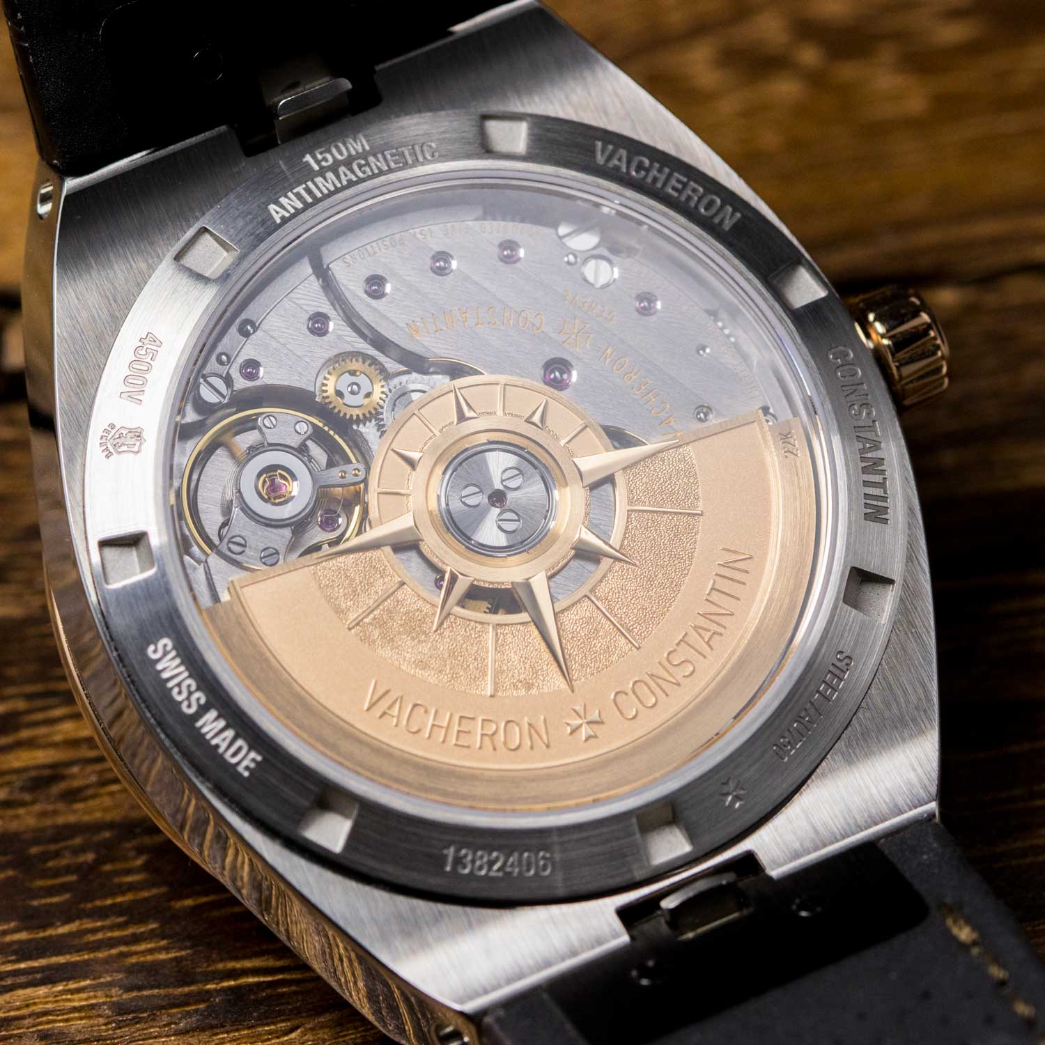 Caseback view of the Manufacture Caliber 5100