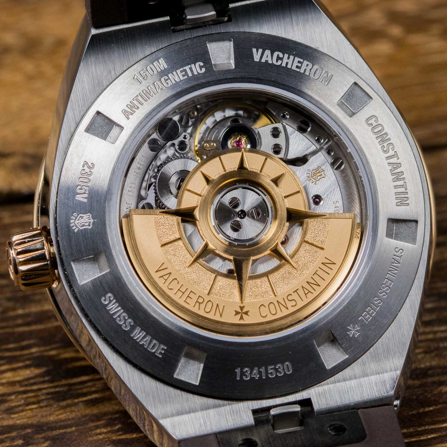 Caseback view of the Manufacture Caliber 5300