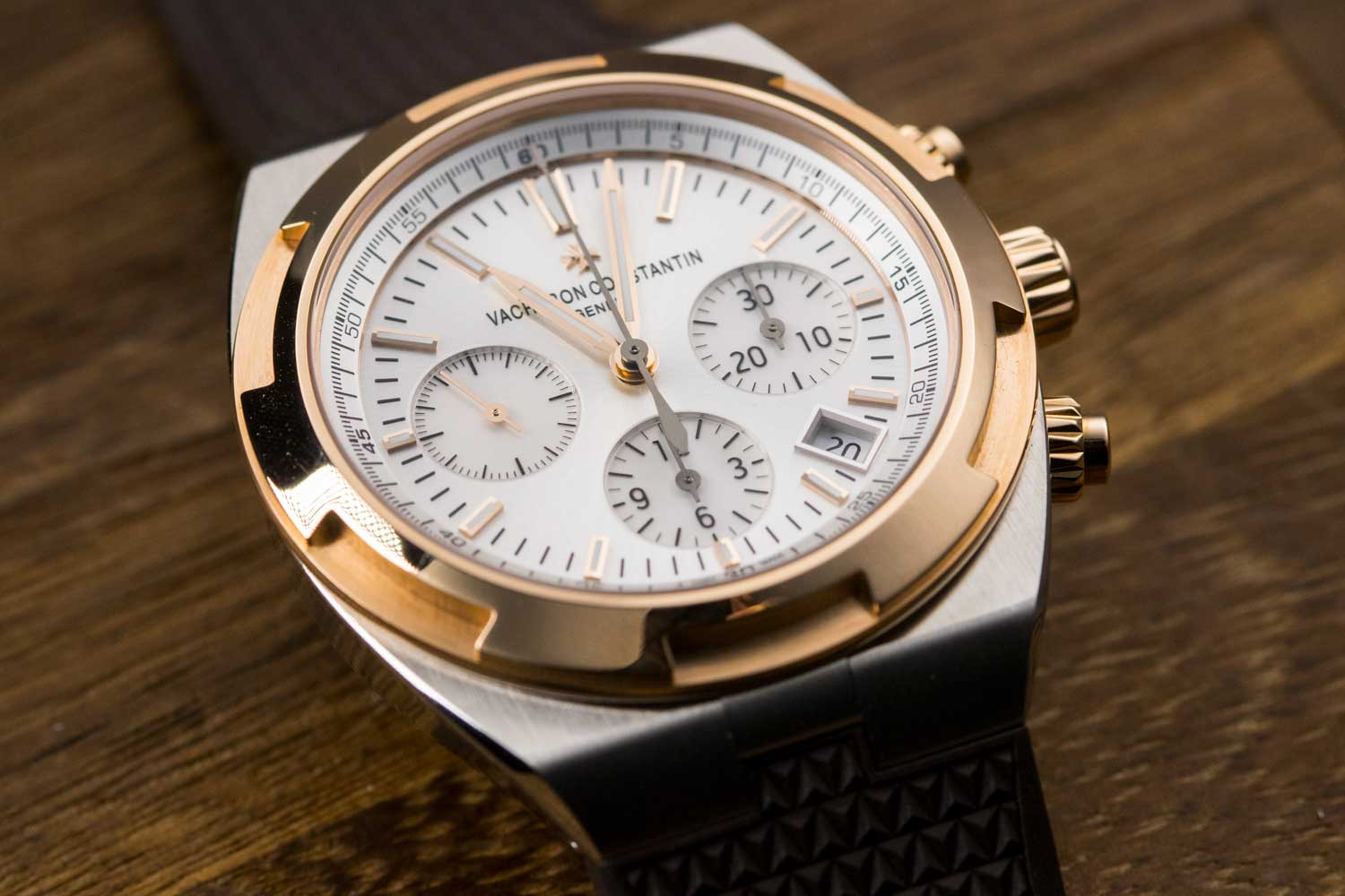 Vacheron Constantin's two-tone Overseas Chronograph
