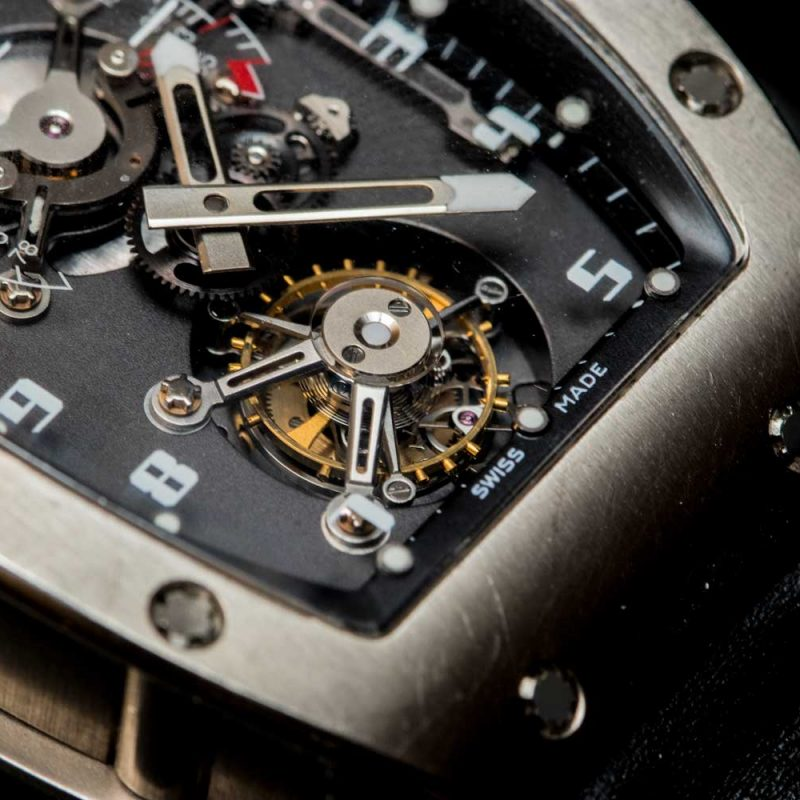 The tourbillon of the Richard Mille RM 001 Tourbillon