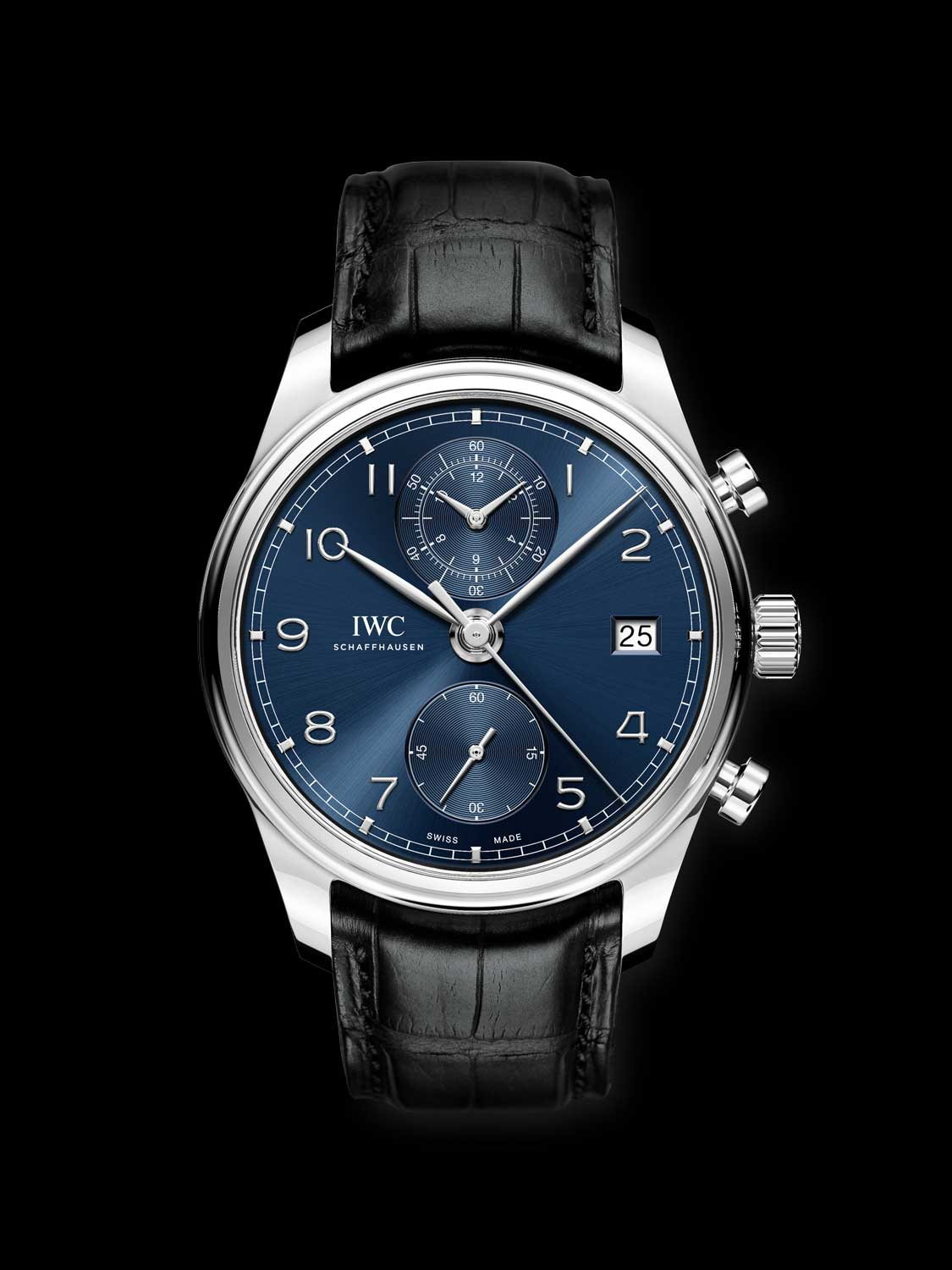 Portugieser Chronograph Classic stainless steel with a blue dial (ref. IW390303)