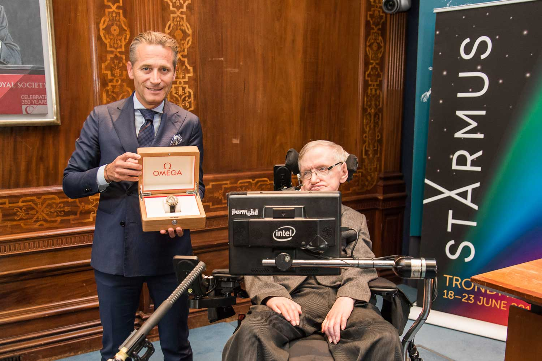 Raynald Aeschlimann & Professor Stephen Hawking