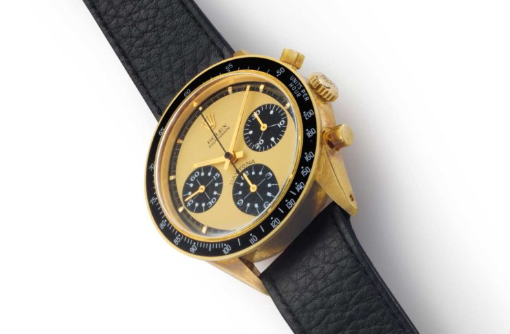 "Ref. 6264 Gold Paul Newman Daytona with ""Lemon Dial"" (Christies.com)"