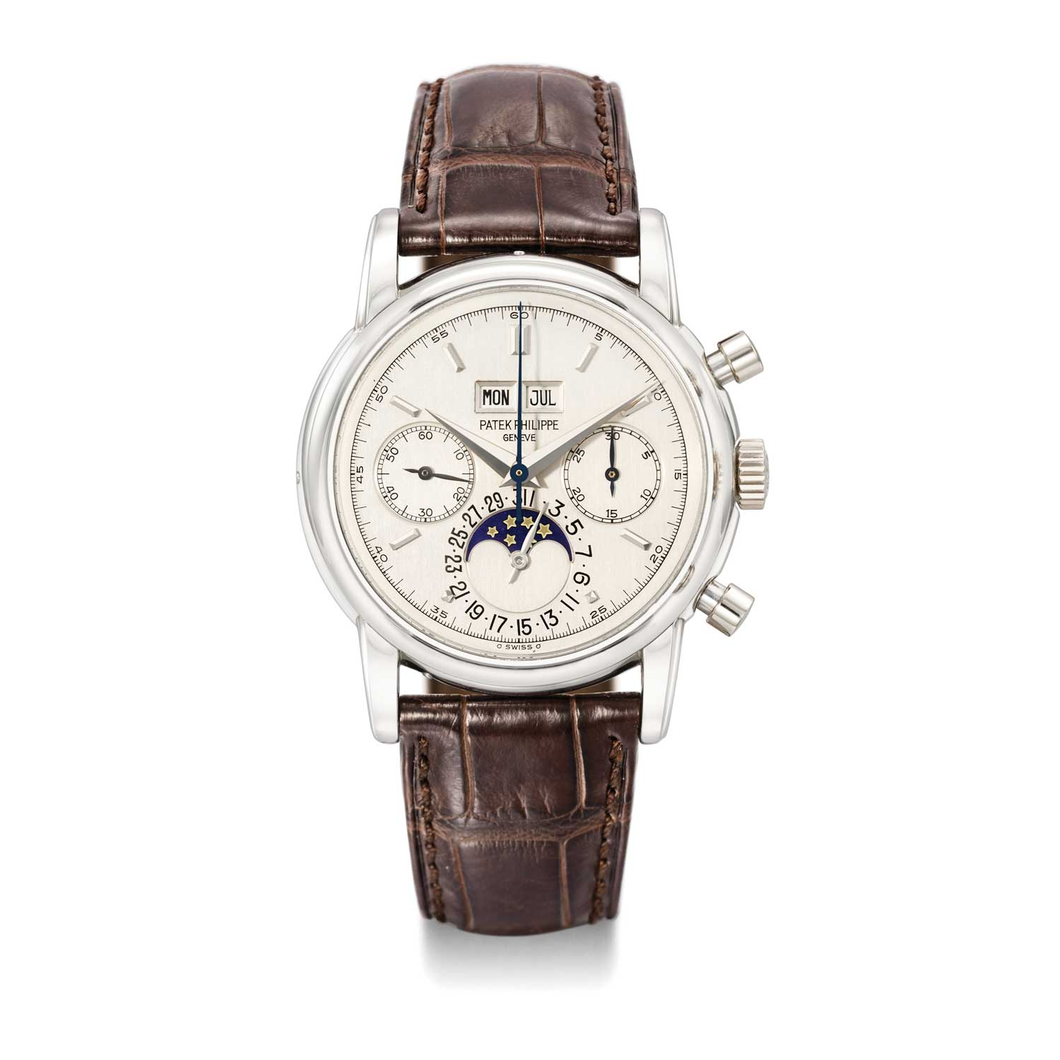 Patek Philippe 2499/100 in platinum, formerly the property of Eric Clapton