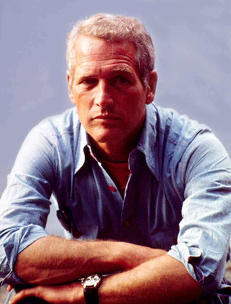 Paul Newman with his exotic dial Daytona 6239 clear as day on his wrist