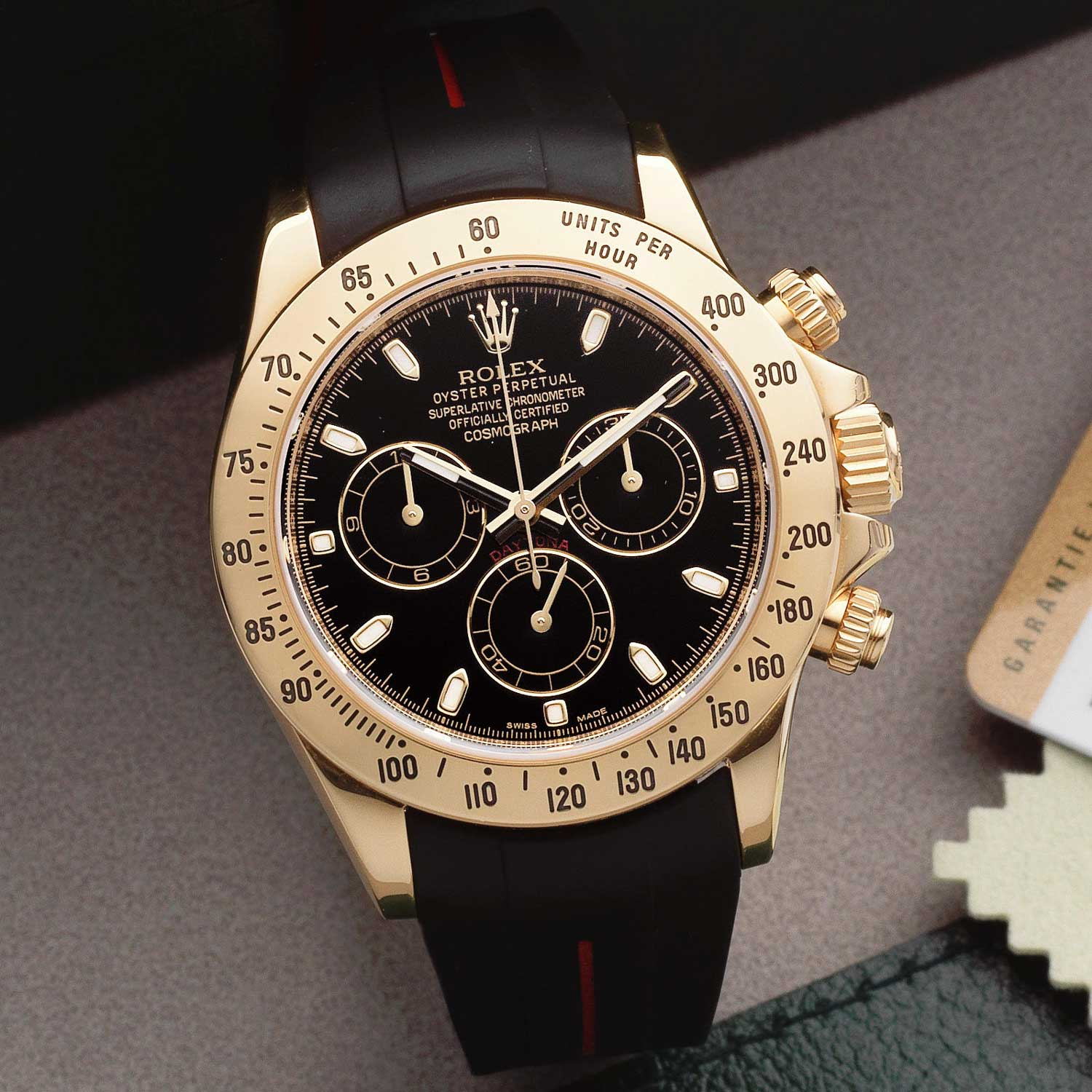 An 18ct 116528 Rolex Daytona, formerly the property of Eric Clapton