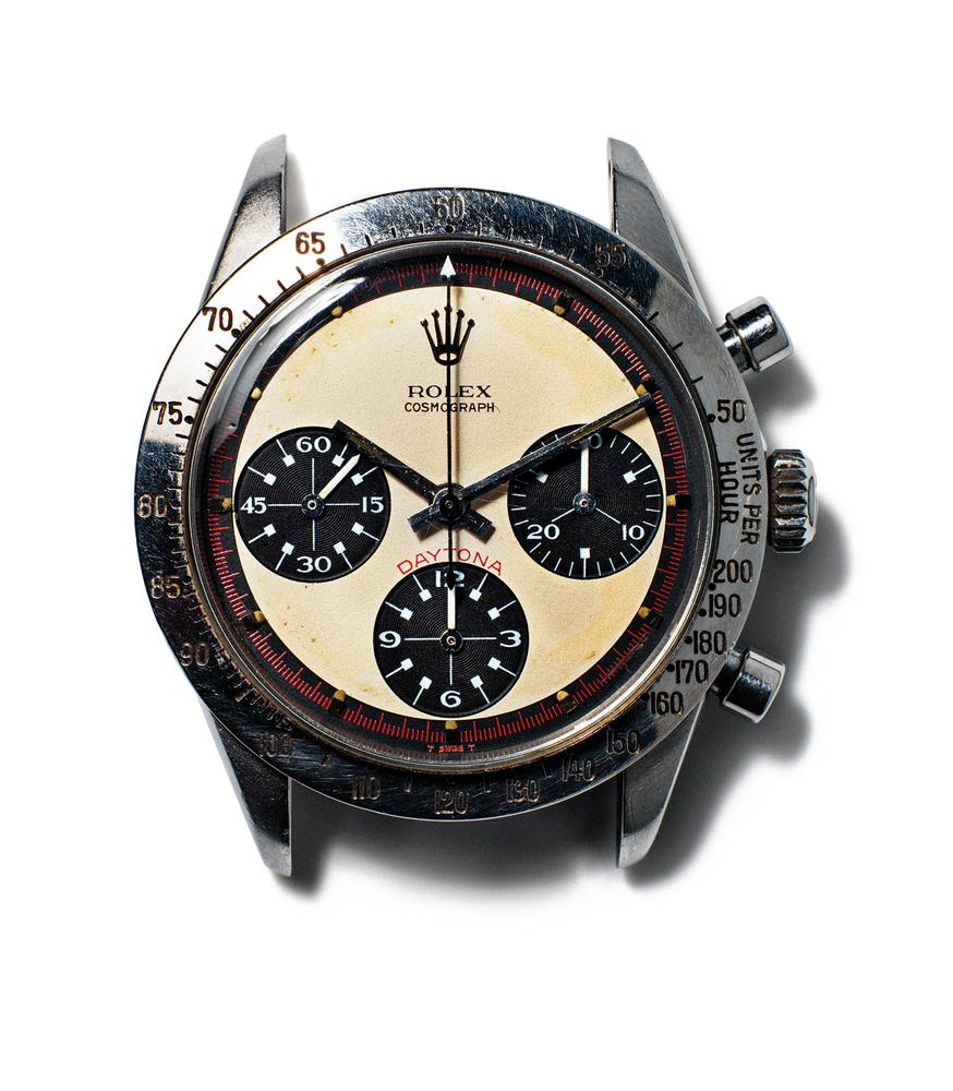 The original Paul Newman Daytona, which Newman gave to James Cox in the summer of 1984. PHOTO: HENRY LEUTWYLER