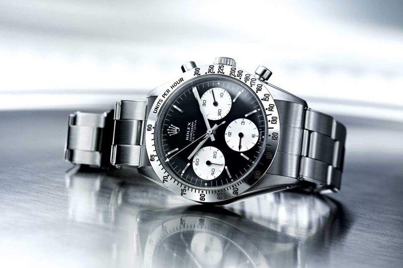 The 1963 Rolex Cosmograph featured chronograph counters that stood out against a contrasting dial