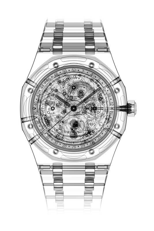A sketch of the Royal Oak Perpetual Calendar ref. 26574