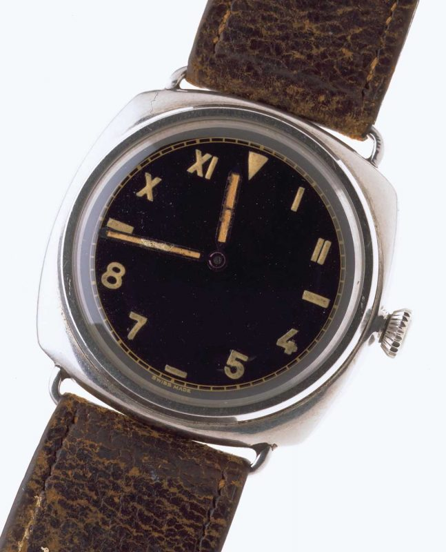 A Panerai ref. 3646 from World War II, made by Rolex for the Italian and German forces
