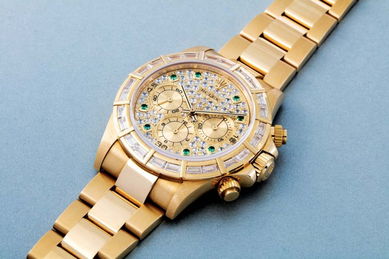 "Rolex Cosmograph Daytona ""Glitter Road,"" ref. 16568 in yellow gold"