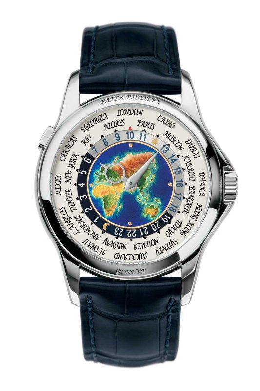 Patek Philippe special-version World Timer with cloisonné-enamel dial