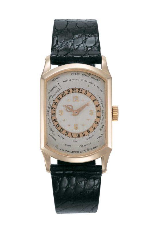 Rectangular-cased World Timer ref. 515
