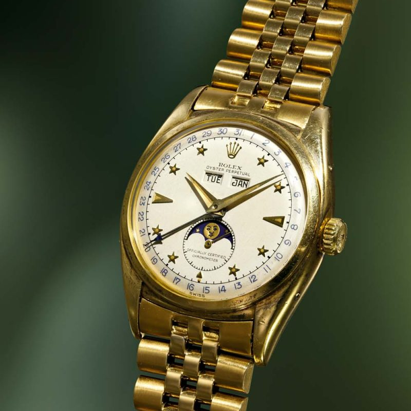 "Rolex ref. 6062 Triple Calendar Moonphase with ""Stelline"" or Star Dial"