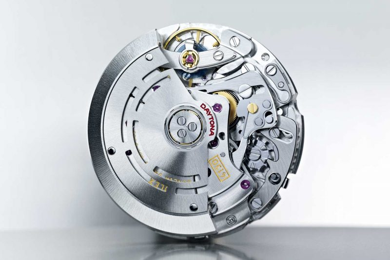The watch's self‑winding cal. 4130