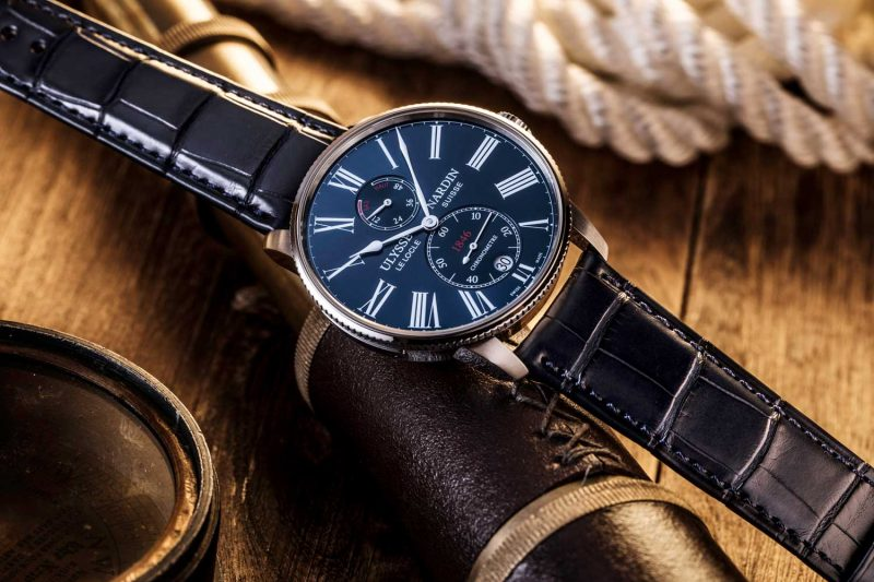 Ulysse Nardin Torpilleur stainless steel case with blue dial