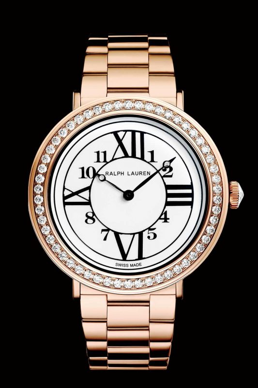 RL888 rose gold diamond dial