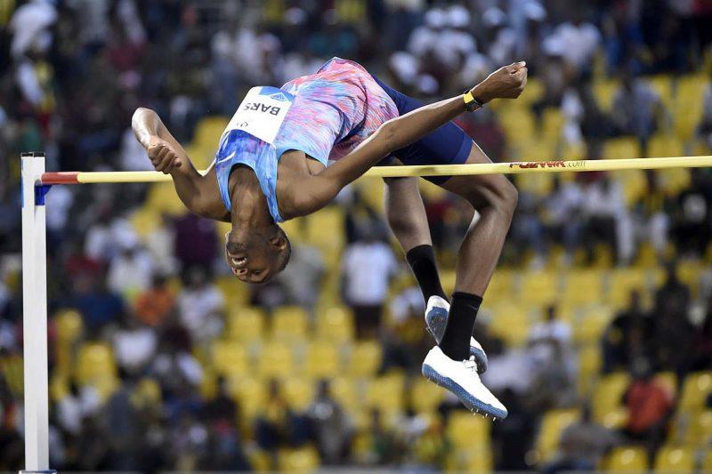 Mutaz Essa Barshim set a World Lead of 2.36m in the Men's High Jump at the 2017 Doha IAAF Diamond League Meeting