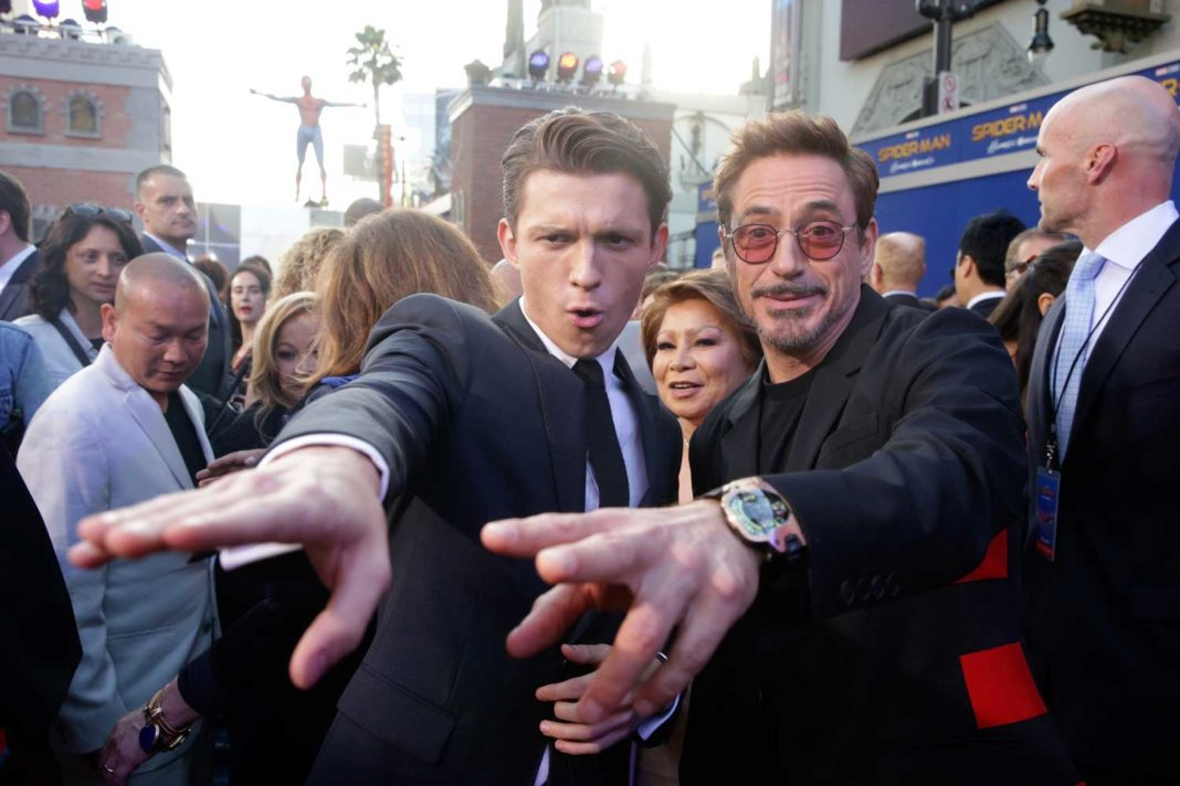 Tom Holland and Robert Downey Jr