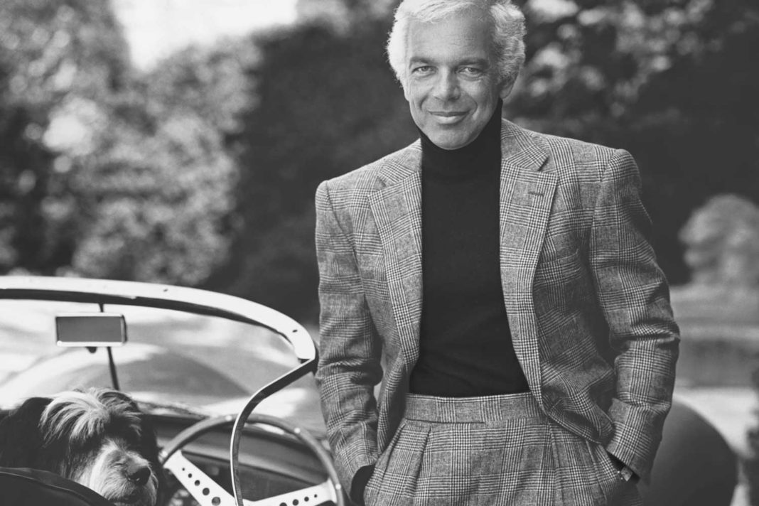 Ralph Lauren at his Bedford, NY estate with his Cartier Tank peeking out from under his jacket sleeve (Image: Bruce Weber, 1998)