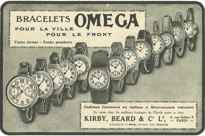 1916 World War I Omega Ad