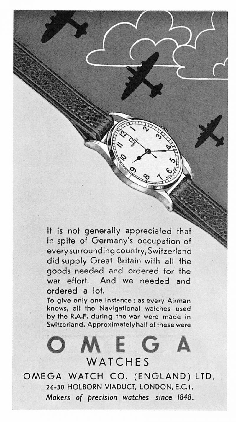 1945 Omega Ad World War II