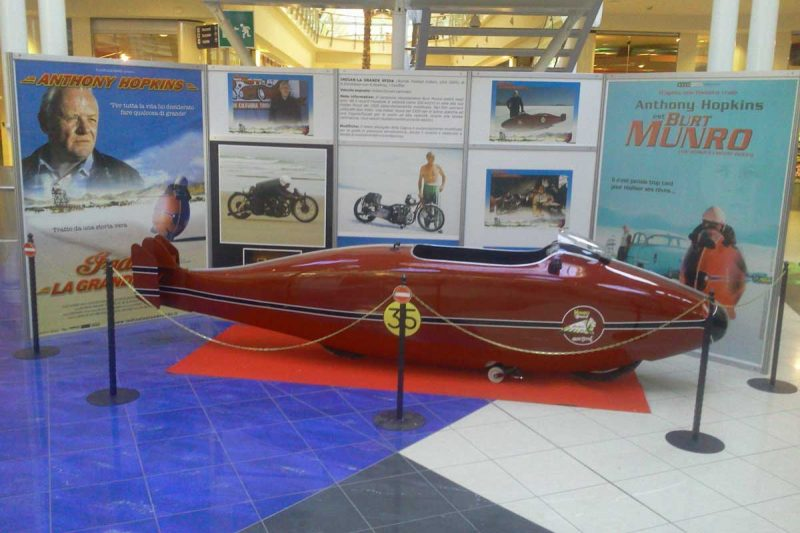 "Burt Munro's Indian Special replica from the movie ""The World's Fastest Indian"""