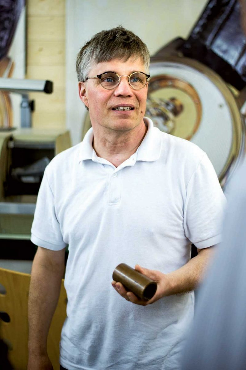 Prescher in his workshop