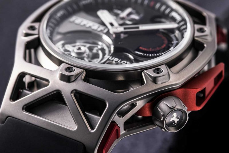 The Hublot Techframe Ferrari 70 Years Tourbillon Chronograph