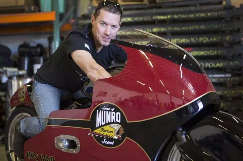 Burt Munro's great-nephew Lee Munro