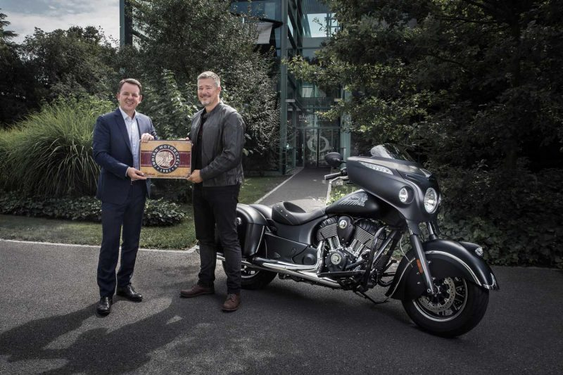 Alain Zimmermann CEO of Baume & Mercier and Grant Bester, Vice President, Indian Motorcycle EMEA