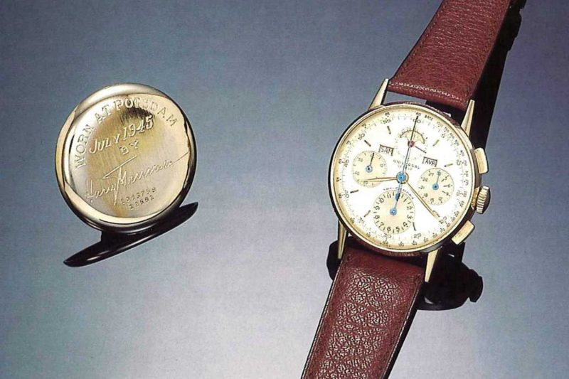 The watch that belonged to US President Harry S. Truman