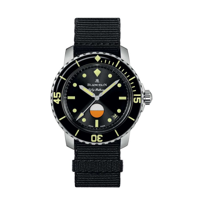 Blancpain Tribute to Fifty Fathoms Mil-Spec Only Watch 2017; estimate: US$11,000 - 18,000