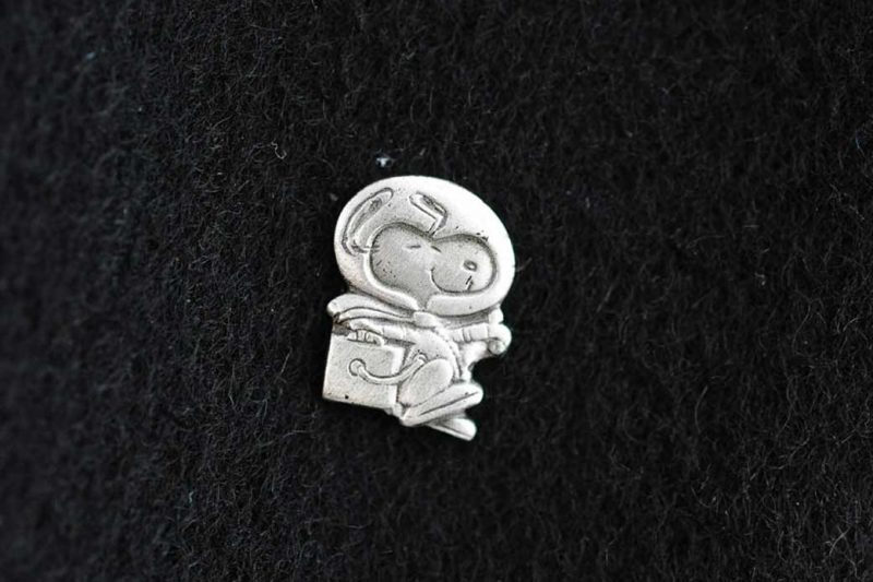 Silver Snoopy Lapel Pin