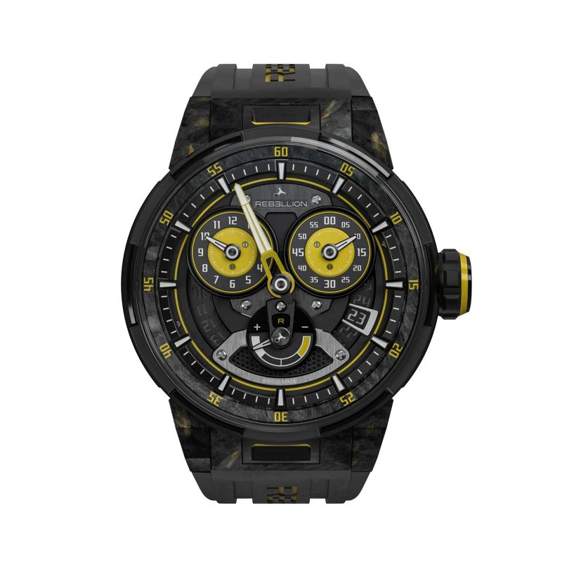 Rebellion Predator 2.0 Regulator Power Reserve Sébastien Buemi Edition for Only Watch 2017; estimate: US$39,000 - 57,000