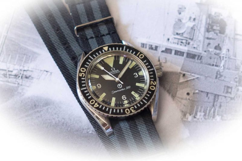 A vintage Seamaster 300M that would've provided to the British Navy in the late 50s and 60s