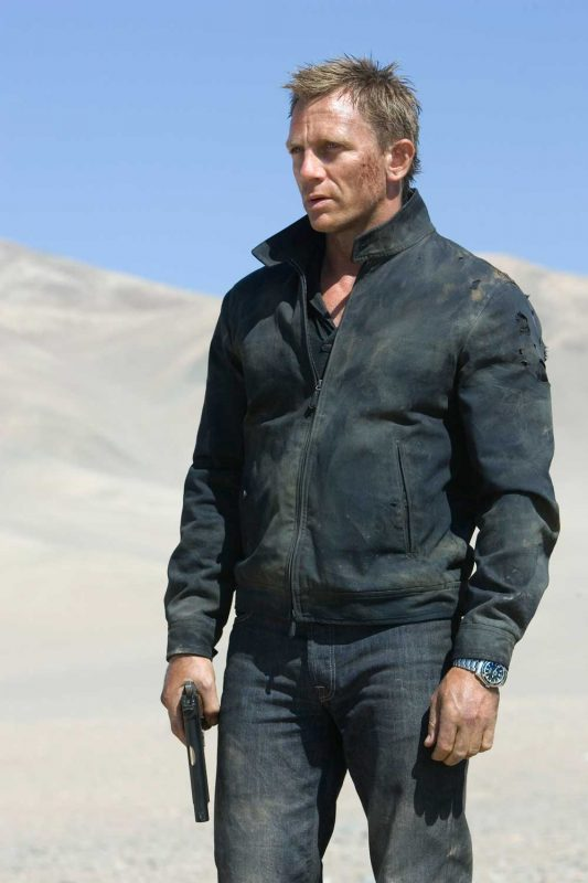 Daniel Craig in Quantum of Solace (2008) wearing a Seamaster Planet Ocean 600M