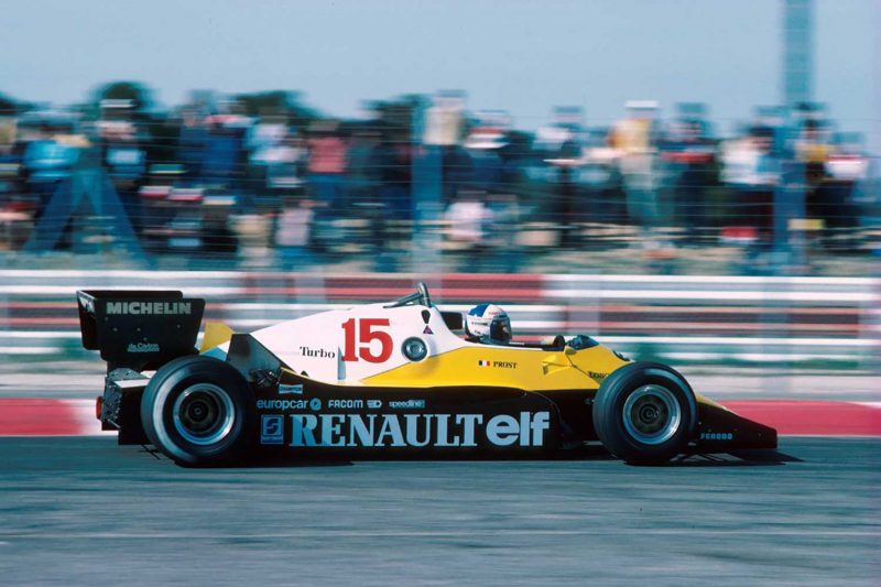 Alain Prost with Renault