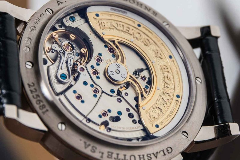 Caseback of the Lange 1 Daymatic