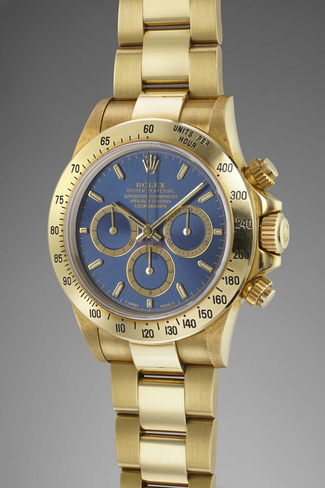 "Rolex, Cosmograph Daytona, The ""Big Blue"" Reference: 16528"
