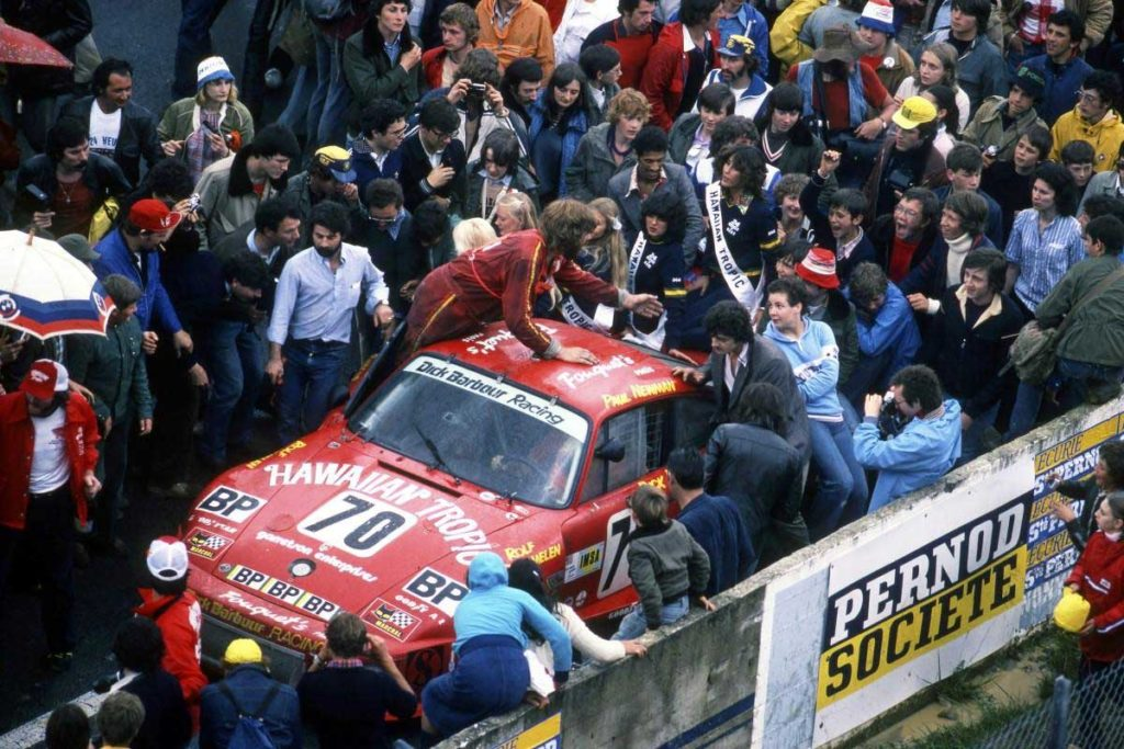 Large crowds gathered at the 1979 Le Mans to witness Paul Newman in action