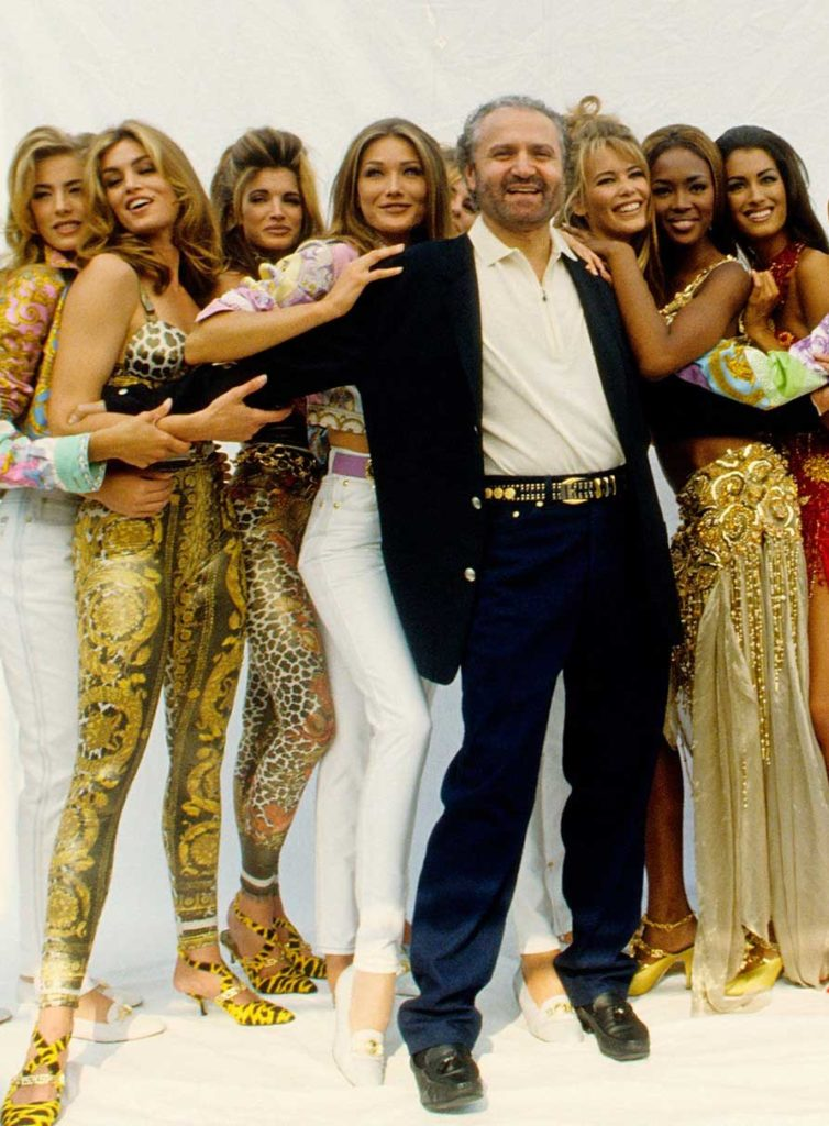 Gianni Versace and his supermodels