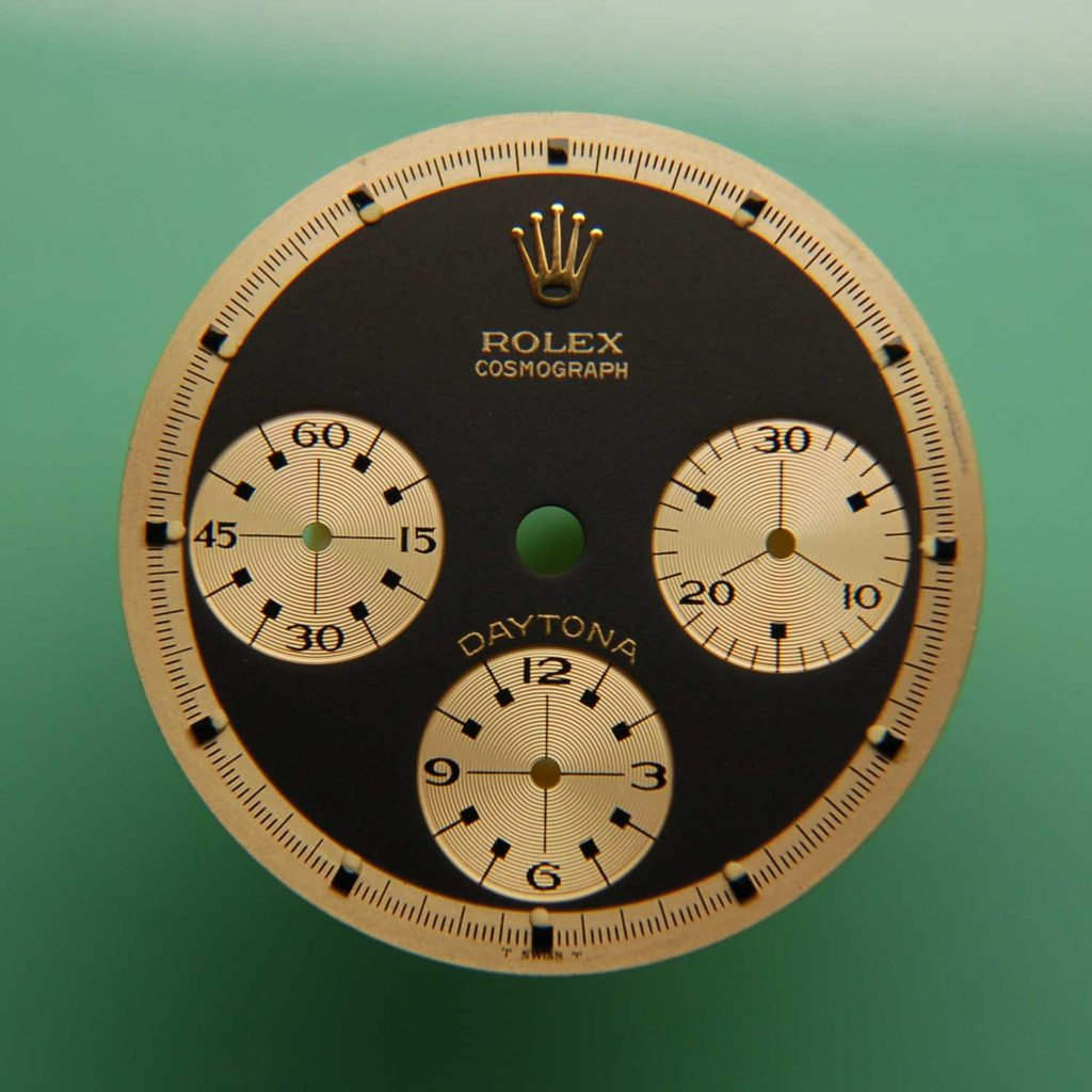 "The dial of the Rolex ""John Player Special"" Paul Newman Daytona ref. 6241"